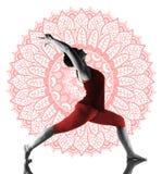 Woman making yoga exercise. On white background Royalty Free Stock Images