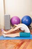 Woman making yoga Royalty Free Stock Image