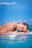 Woman at Maldives Royalty Free Stock Photography