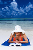 Woman at Maldives Stock Images