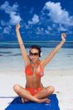 Woman at Maldives royalty free stock images