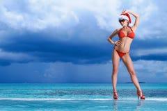 Woman at Maldives Stock Images