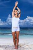 Woman at Maldives Stock Photography