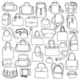 Woman and man bags set Stock Image