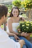 Woman And Man At Botanical Garden Stock Photography