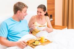 Woman and man  breakfast Stock Photo