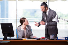 The woman and man in the business concept Stock Photography