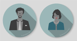 Woman and man businessman icons Stock Image