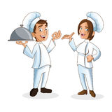 Woman and man chefs people design Royalty Free Stock Photography