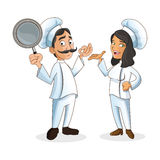 Woman and man chefs people design Royalty Free Stock Photos