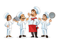 Woman and man chefs people design Stock Images