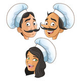 Woman and man chefs people design Royalty Free Stock Image