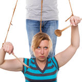 Woman and man, concept equality. And oppression Royalty Free Stock Photos