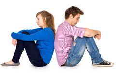 Woman and man conflict Royalty Free Stock Photos