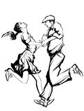 Woman and man dancing swing Royalty Free Stock Images