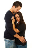 Woman and man embrace Royalty Free Stock Photos
