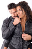 Woman and man embraced Stock Image
