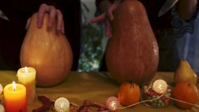 Halloween. Mystical ritual on Halloween holiday stock footage