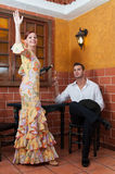 Woman and man during the Feria de Abril on April Spain Royalty Free Stock Photo
