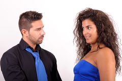 Woman and man flirting Royalty Free Stock Photography