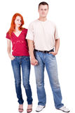 Woman and man, hand in hand Stock Photo