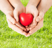 Woman and man hands with heart Royalty Free Stock Photos