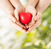 Woman and man hands with heart Royalty Free Stock Image