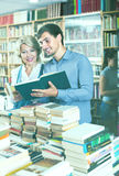Woman and man having books Stock Photography