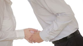 A woman and a man. holding a gift. stock footage