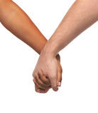 Woman and man holding hands Royalty Free Stock Image
