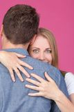 Woman and Man Hugging Stock Image