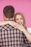 Woman and Man Hugging Royalty Free Stock Photography