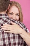 Woman and Man Hugging Royalty Free Stock Image