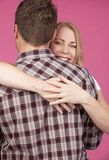 Woman and Man Hugging Stock Photography