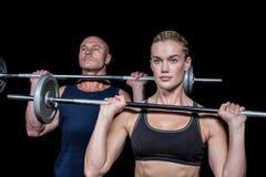 Woman and man lifting crossfit Royalty Free Stock Photo