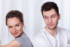 Woman and man in love stock photos