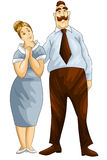 Woman man parents couple character cartoon style  Stock Photography