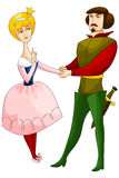 Woman man princess prince character cartoon style  Stock Images
