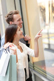 Woman and man shopping in Hong Kong Central Stock Photography
