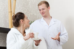 Woman and man in spa Royalty Free Stock Photography