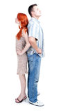 Woman and man standing back Royalty Free Stock Photo