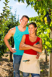 Woman and man standing in vineyard Royalty Free Stock Photography
