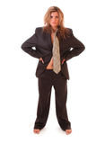 Woman in man suit Stock Photos