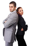 Woman and man in suits Royalty Free Stock Photos