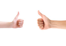 Woman and Man thumb up Stock Images