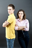 Woman and man together Stock Images