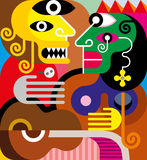 Woman and man - vector illustration Stock Photo