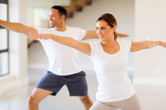 Woman and man workout Stock Images