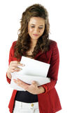 Woman manage paperwork Royalty Free Stock Image