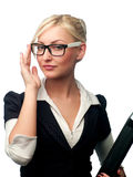 Woman manager in the glasses Stock Images